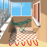 Пол с подогревом на балкон или лоджию