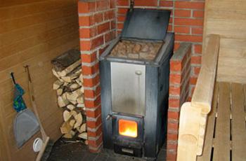 Обзор печей газового типа для бани