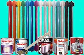 Подбор краски для радиаторов отопления