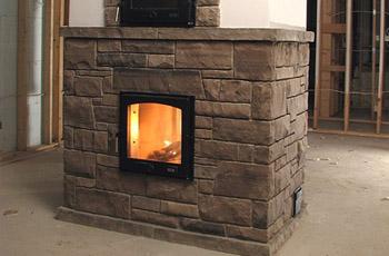 Как облицевать камин или печь